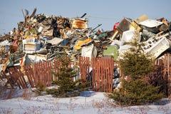 Vidage mémoire d'ordures Photos libres de droits