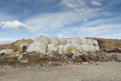 Vidage mémoire de déchets de la ville Image libre de droits