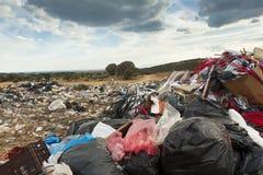 Vidage mémoire de déchets de la ville Photographie stock libre de droits
