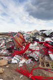 Vidage mémoire de déchets de la ville Photo stock