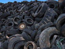 Vidage mémoire de pneus   Photographie stock