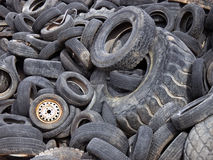 Vidage mémoire de pneu Photographie stock libre de droits