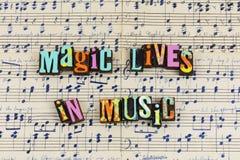 Vidas mágicas no musical da música foto de stock