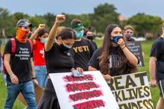 Black Lives Matter Protesters against Blue Lives Matter.