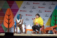 Vidcon 2016. Anaheim, CA - June 24: Transgender Miles Jai answers questions at the 7th annual VidCon conference for YouTube creators, influencers, industry Stock Image
