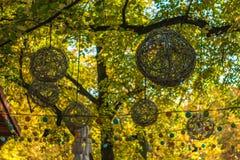 Vide- dekorativa bollar för Basketwork Arkivfoto