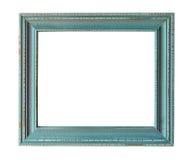 Vide en bois de cadre de photo d'isolement sur le fond blanc Image libre de droits