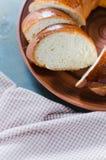 Vide- hemlagat bröd Sött vete skivad bulle Arkivfoton