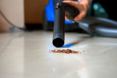 Vide nettoyant le nouveau tapis Image stock