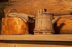 Vide- och wood ware Arkivbilder