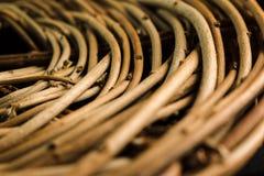 Vide- ställning av bruna pinnar spelrum med lampa flätad textur Royaltyfria Bilder