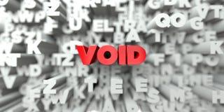 VIDE - Texte rouge sur le fond de typographie - 3D a rendu l'image courante gratuite de redevance illustration libre de droits