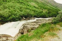 Videfossen vattenfall i Norge Royaltyfria Bilder