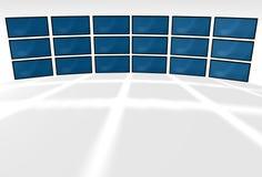 videi dell'affissione a cristalli liquidi 3D Fotografia Stock