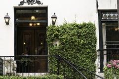 A videira cobriu a entrada da mansão Fotos de Stock Royalty Free
