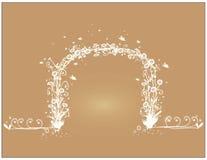 Videira dada forma com flores brancas Imagem de Stock