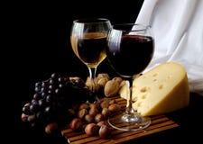 Videira e queijo Fotografia de Stock
