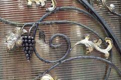 Videira, ramo, feito, ferro Fotografia de Stock