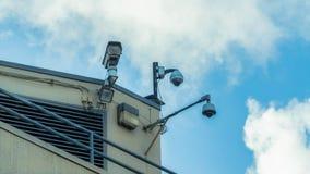 Videoüberwachungs-Sicherheits-Konzept Stockfotos