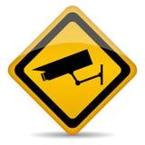 Videoüberwachungszeichen Stockbild