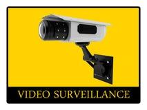 Videoüberwachungzeichen Stockfoto