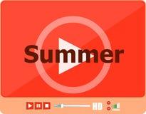 Video για τον Ιστό με το καλοκαίρι λέξης του, διακοπών ή τεχνολογίας στην κάρτα Στοκ εικόνα με δικαίωμα ελεύθερης χρήσης