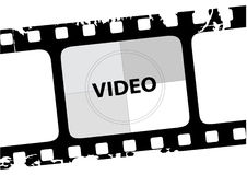 Video. Vector illustration of a grunge film Royalty Free Stock Photo