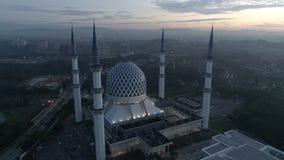Video aereo della moschea di Sultan Salahuddin Abdul Aziz Shah archivi video