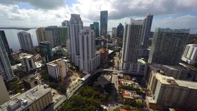 Video aereo di Brickell Miami stock footage