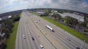 Video aereo di I95 Florida video d archivio