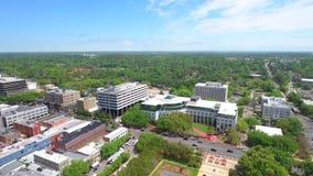 Video aereo di riserva del centro di Tallahassee Florida stock footage