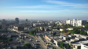 Aerial View of Hollywood in LA stock video footage