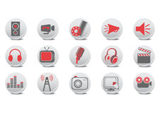 Video And Audio Buttons Stock Photography
