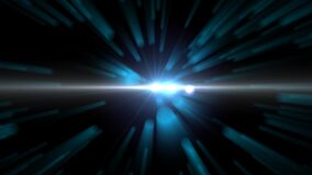 Animated space warp style background with lens flare. Video of Animated space warp style background with lens flare stock video footage
