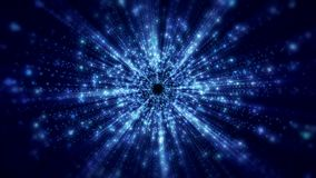 Video animation of light beams. Video animation blue light beams - abstract backgound stock video