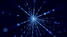 Video animation of flash and light beams. Video animation of flash and blue light beams - abstract backgound stock footage