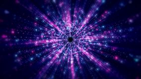 Video animation of light beams. Video animation blue and pink light beams - abstract backgound stock video