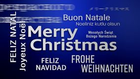 Video animation of a word cloud - Merry Christmas vector illustration