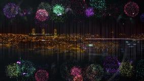 Video animato del fuoco d'artificio royalty illustrazione gratis