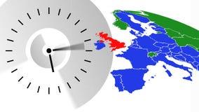 Video animato dell'orologio royalty illustrazione gratis