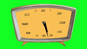 Video animazione dell'orologio loopable sul fondo (verde) di chromakey illustrazione vettoriale