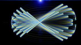 Video animazione futuristica, ciclo HD 1080p illustrazione vettoriale