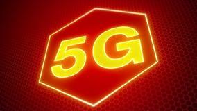 Video animering av det snabba mobila n?tverket 5G lager videofilmer