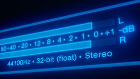 Video animering av ett ljudsignalt spektrum - s?ml?s ?gla vektor illustrationer