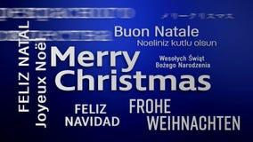 Video animering av ett ordmoln - glad jul vektor illustrationer