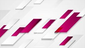Video animering för ljus purpurfärgad grå abstrakt geometrisk tech stock illustrationer