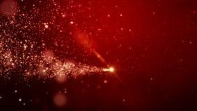Video animering - för skenpartiklar för jul guld- ljus bokeh royaltyfri illustrationer