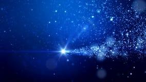 Video animering - för skenpartiklar för jul ljus bokeh stock illustrationer