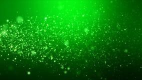 Video animering - för skenpartiklar för jul ljus bokeh vektor illustrationer