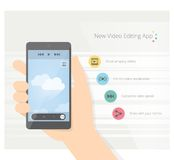 Video app Immagine Stock